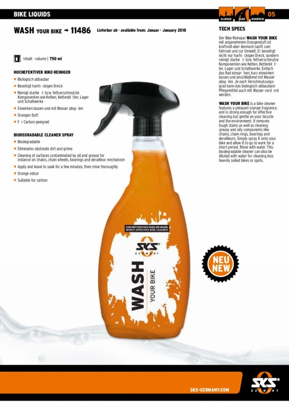 Servis bicykla - Wash your bike 750ml