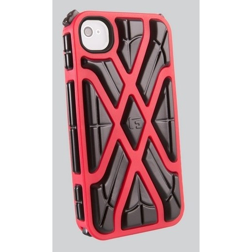 G-Form iPhone X-PROTECT 4 and 4S red/black