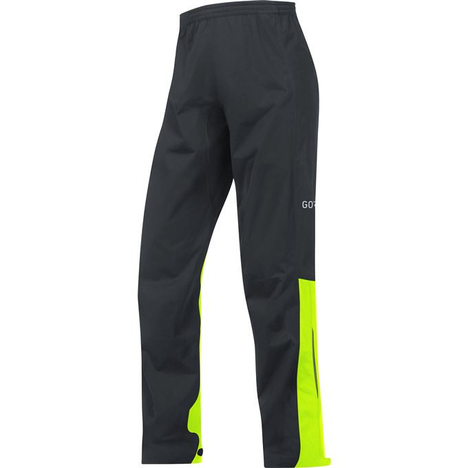 GORE C3 GTX Active Pants-black/neon yellow-XXL