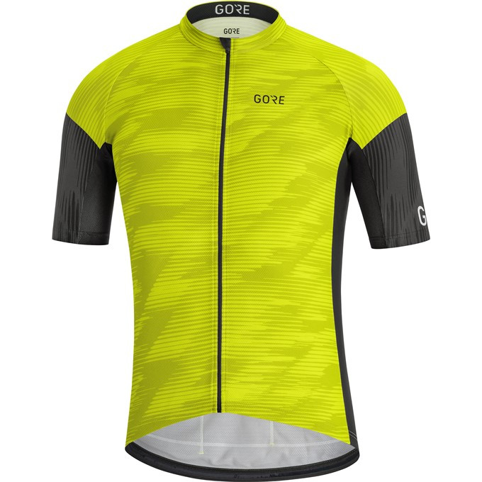 GORE C3 Knit Design Jersey-citrus green/black-L