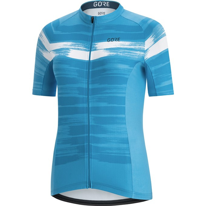 GORE C3 Women Paint Jersey-dynamic cyan/white-36
