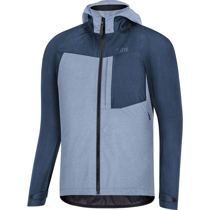 GORE C5 GTX Trail Hooded Jacket-deep water blue-L