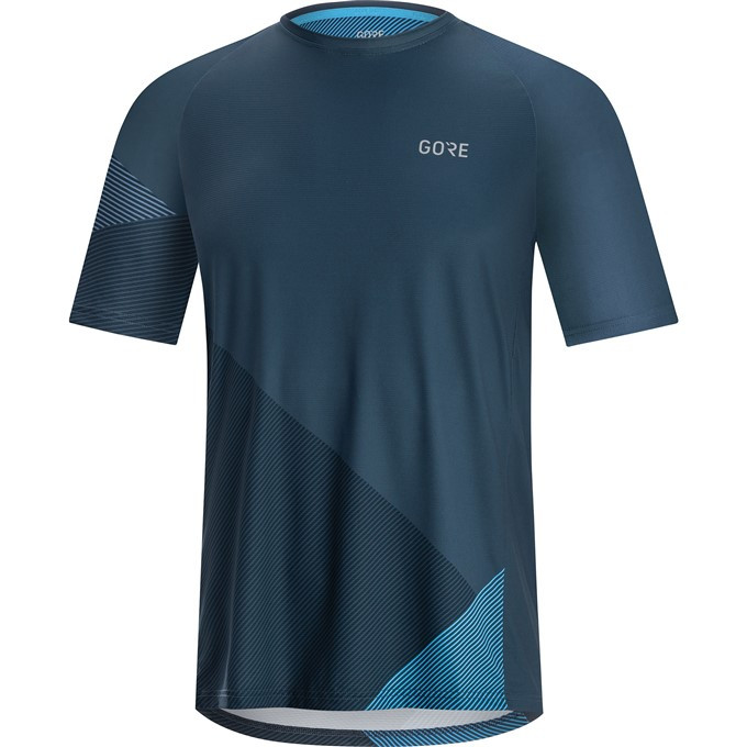 GORE C5 Trail Short Sleeve Jersey-deep water blue/dynamic cyan-M