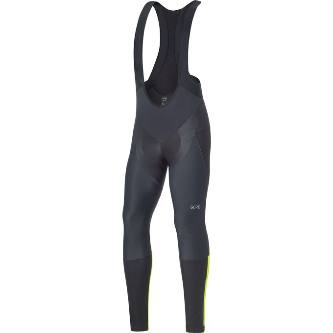 GORE C7 WS Pro Bib Tights+-black/neon yellow-L