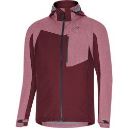 GORE C5 GTX Infinium Hybrid Hooded Jacket-chestnut red-L