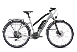 GHOST Ebikes SQUARE TREKKING B2.8 LADIES Iridium Silver / Jet Black