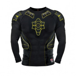 G-Form PRO-X LS Compression Shirt-black/yellow-black Therm-XL