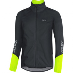 GORE C5 GTX Active Jacket-black/neon yellow-M