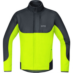 GORE C5 WS Thermo Trail Jacket-blackneon yellow-L