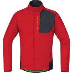 GORE Power Trail WS Soft Shell Thermo Jacket-red/black-L