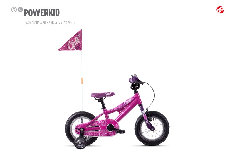GHOST Powerkid 12 - Pink / Violet