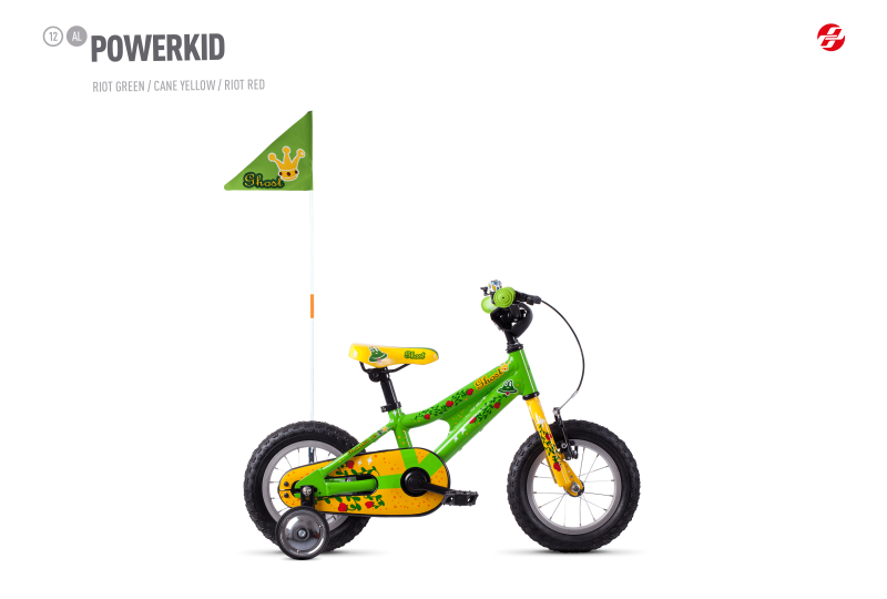 GHOST Powerkid 12 - Green / Yellow